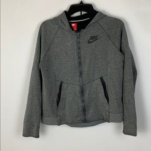 Girls Sz 12 Nike Zip Up Jacket Sweater Heathered